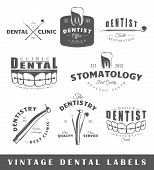 Постер, плакат: Set Of Vintage Dentist Labels