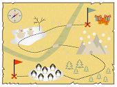 Illustration of creative treasure map flat design. poster