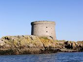 stock photo of martello  - martello tower on the island of ireland eye - JPG