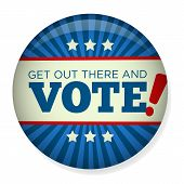 ������, ������: Retro or Vintage Style Vote or Voting Campaign Election Pin Button or Badge