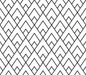 Vector modern seamless geometry pattern triangle black and white abstract poster
