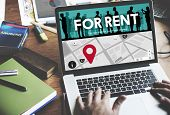 For Rent Rental Available Renting Borrow Property Concept poster