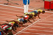 Olympics Start Of Mens 100 Meter Sprint