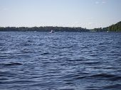 stock photo of winnebago  - A view of the beautiful Winnebago Lake during summer - JPG