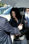 SANTA MARIA, CA - NOV 15: Michael Jackson at the courthouse in Santa Maria, California on November 1