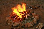 Camp Fire. BBQ Fire.  poster