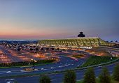Dulles Airport At Dawn Near Washington Dc