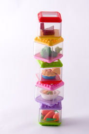 pic of food pyramid  - staked play food containers - JPG