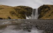Skogafoss Waterfall On The Skougau River, In The South Of Iceland, In The Sydurland Region poster