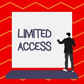 Word Writing Text Limited Access. Business Concept For Having Access Restricted To A Quite Small Num poster