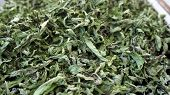 Mint Drying At Home, Natural Mint Dry, Large Amount Of Mint Dry, poster
