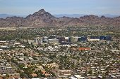 stock photo of piestewa  - Financial District skyline along the Camelback corridor in Phoenix Arizona