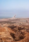 picture of masada  - View on Dead Sea from Masada fortress Israel - JPG