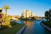 stock photo of urbanisation  - Sotogrande luxury marina and urbanisation in andalusia - JPG