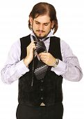 Man Doing Tie