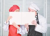 Paperwork. Chef And Prep Cook Holding Empty Account Book. Cook And Helper Performing Book Keeping. C poster