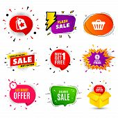 Exclusive Sale. Banner Badge, Flash Sale Bubble. Special Offer Price Sign. Advertising Discounts Sym poster