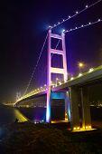 foto of tsing ma bridge  - Tsing Ma Bridge at Hongkong - JPG