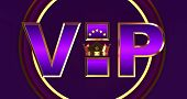 3d Rendering Of Golden Vip Withe Crown, Royal Gold Vip Crown, Crown Vip With Stars poster