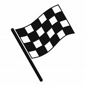 Finish Flag Icon. Simple Illustration Of Finish Flag Vector Icon For Web Design Isolated On White Ba poster