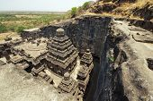 stock photo of hindu temple  - Ancient Hindu Temple  - JPG