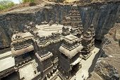 image of ellora  - Ancient Hindu Temple  - JPG