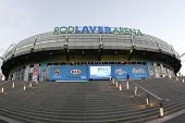 MELBOURNE,  VC - JANUARY 23: A General view of the exterior of Rod Laver Arena during the 2013 Austr