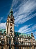 pic of hall  - Hamburg city hall - JPG