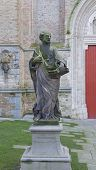 Statue Of The Apostle Peter. Bruges, Belgium