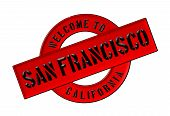 stock photo of cisco  - Illustration of WELCOME TO SAN FRANCISCO as Banner for your presentation - JPG