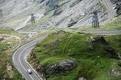 picture of twisty  - A twisty road up in the Romanian Carpathian mountains called  - JPG