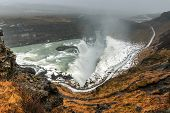 picture of southwest  - Gullfoss waterfall  - JPG