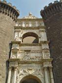 Under-gate Sculpture At Medieval Castle poster