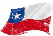 A grunge Chilean flag in the wind for you