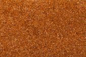 stock photo of flaxseeds  - Close up of flaxseed linseed as brown red food background or grain texture - JPG