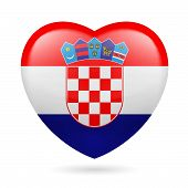 Heart icon of Croatia