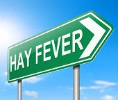 pic of hay fever  - Illustration depicting a sign with a Hay fever concept - JPG
