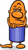 picture of cynicism  - Cartoon Illustration of Funny Skeptical Guy Character - JPG