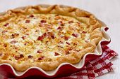 stock photo of leek  - quiche lorraine  - JPG