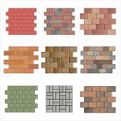 picture of paving stone  - Detailed landscape design elements - JPG