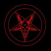 foto of pentacle  - Pentagram Symbol Evil Icons Vector for Use - JPG