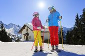 picture of family ski vacation  - Ski - JPG