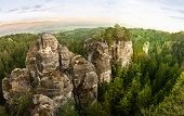 stock photo of bohemian  - Sandstone rocks in National park Bohemian Paradise - JPG