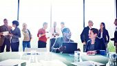 picture of mature adult  - Multiethnic Group of People Meeting in the Office - JPG