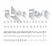 stock photo of glyphs  - Flat font with long shadow - JPG