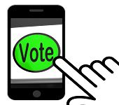 foto of voting  - Vote Button Displaying Options Voting Or Choice - JPG