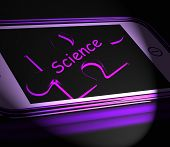picture of physicist  - Science Smartphone Displaying Biology Chemistry And Physics - JPG
