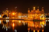 stock photo of sikh  - Sikh sacred site gurdwara Sri Harmandir Sahib  - JPG