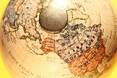 foto of longitude  - Close up of a  old vintage globe - JPG