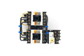 picture of contactor  - Magnetic contactors with a white background work - JPG